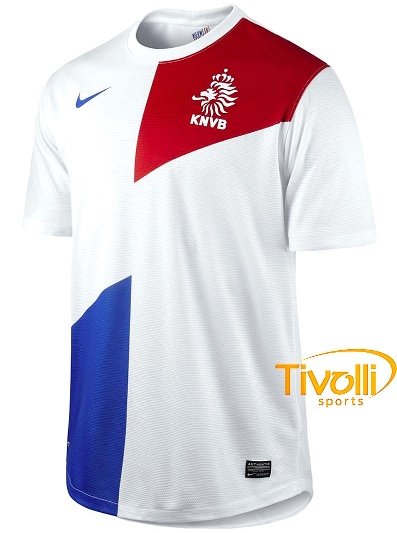 ee0946a1ddfa2 Black Friday - Camisa Nike Holanda II 2013 Branco Vermelho Azul - Ref   447289-105