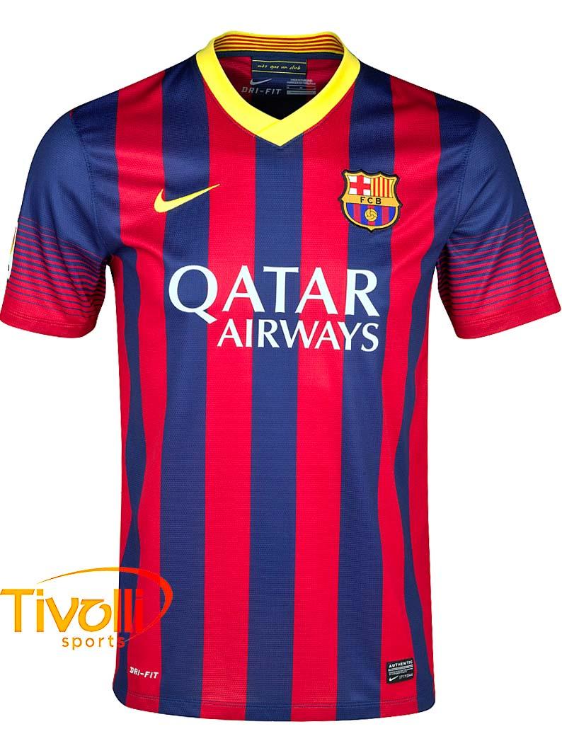 Black Friday - Camisa Nike Barcelona I Home 2013 14 Grená e Azul marinho 93f6a179e4b5e