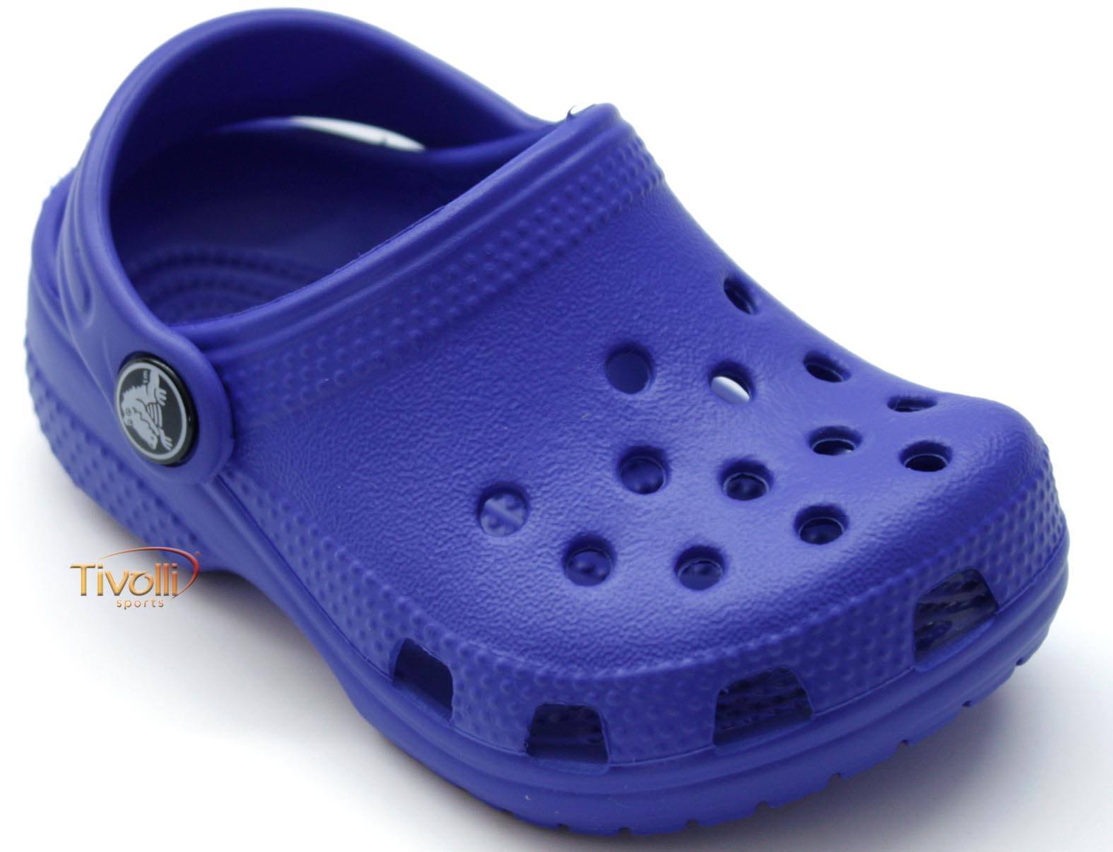 10cc815a41f Sandália Crocs Littles Baby   Azul