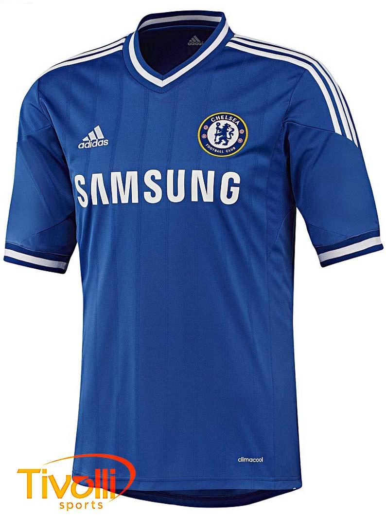Black Friday - Camisa Chelsea I 2013 14   Azul e Branco   6062d56a98cf0