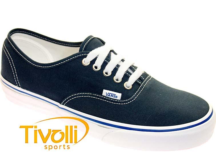 ac85cf75895 Tênis Vans Authentic   Azul Marinho e Branco - Mega Saldão