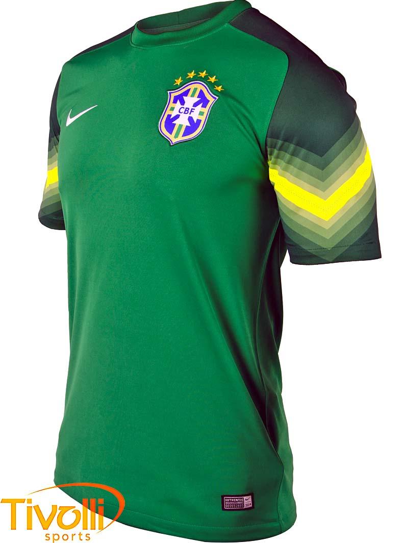 Camiseta Nike Brasil CBF Goleiro 2014   - Mega Saldão   115b0bb90d7da