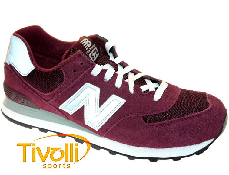 competitive price b06dd 22208 Tênis New Balance M574NBU Classic Traditionnels Vinho, Prata e Branco