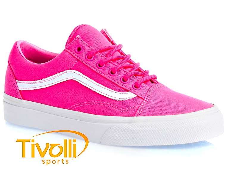 4c19c33abe08 Black Friday - Tênis Vans Old Skool   Carmine Rose e Branco VN-0VOK7DF