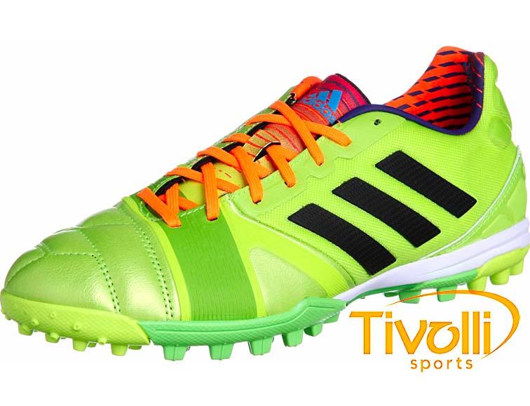 Chuteira society Adidas Nitrocharge 2.0 TRX TF Limão e Laranja D67020 54ddb406a58f7