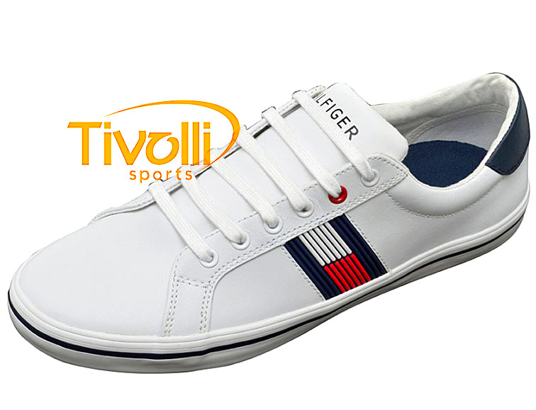 9646216c5 Sapatênis Tommy Hilfiger Masculino Jackson 1A Off White THFH56817182 100