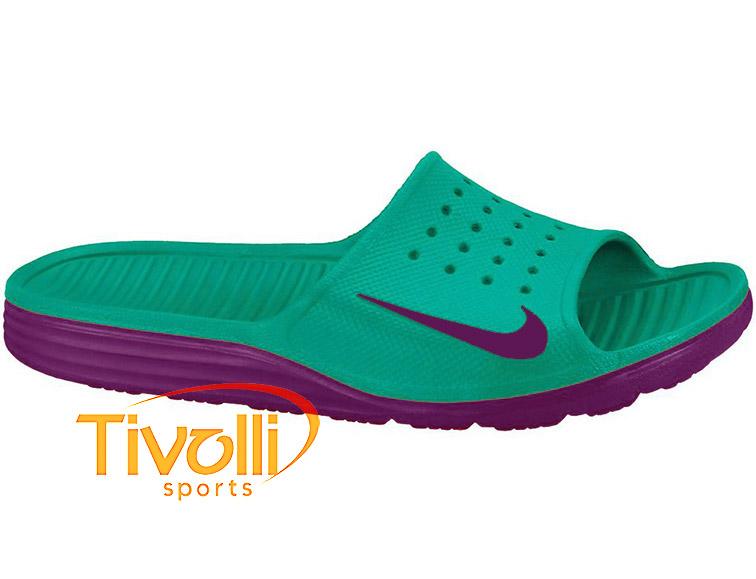 14d91d4c9d Chinelo Nike > Solarsoft Slide Verde e Roxo >