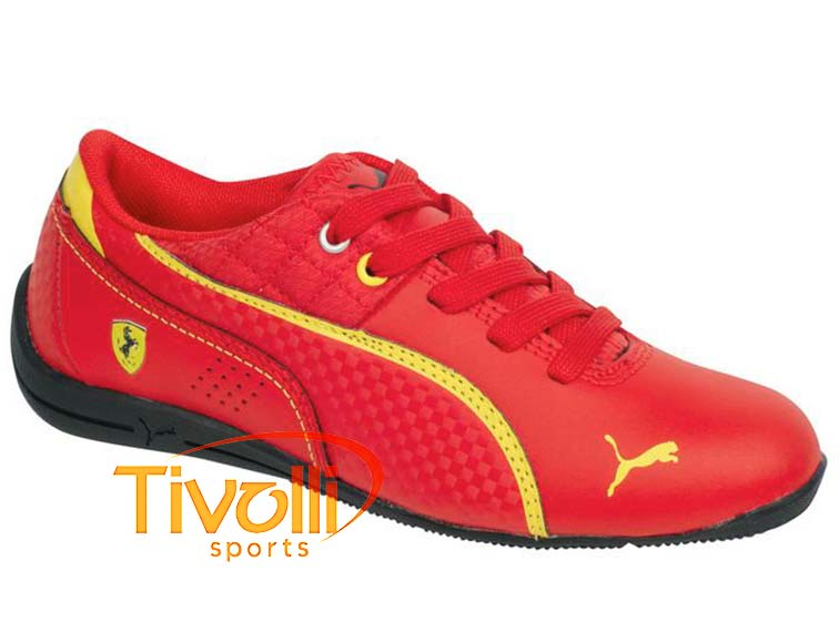 ebea433d9c9 Tenis Puma   Drift Cat 6 L SF Jr Ferrari Vermelho e Amarelo 305179 03