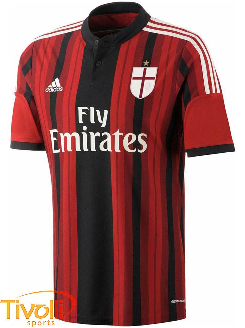 Camisa Adidas Milan I 2014 2015 Infantil D87244