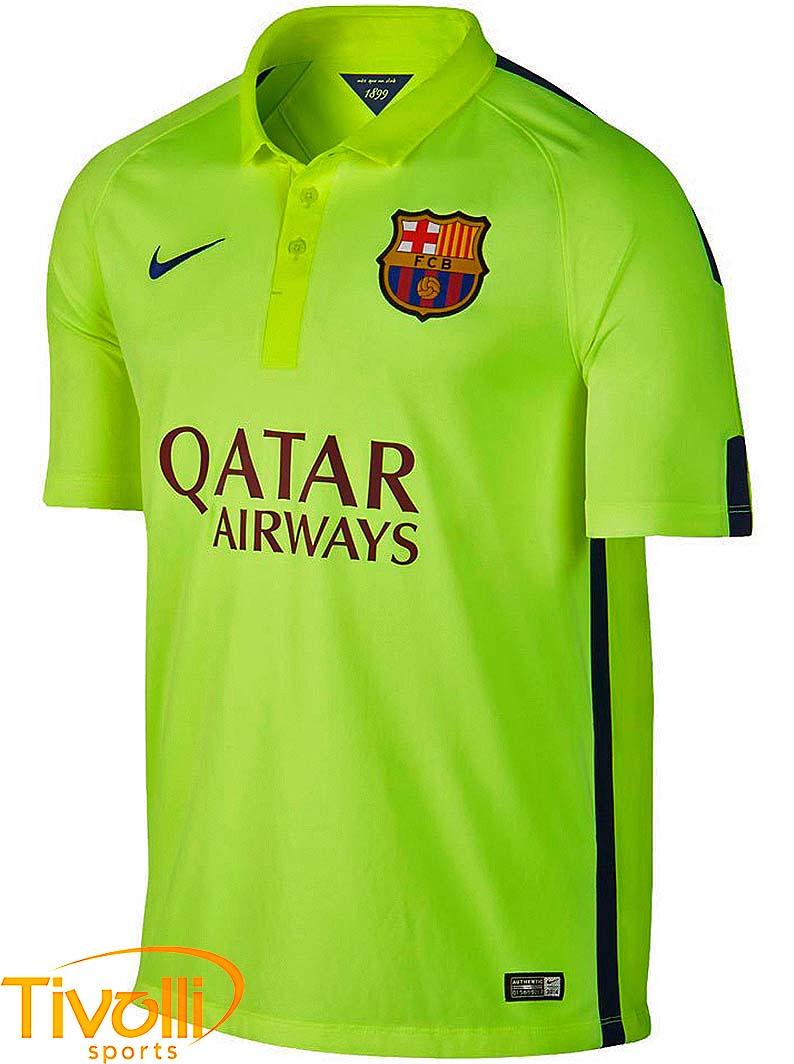 2496d8f434 Black Friday - Camisa Nike Barcelona III > 2014/2015 - verde limão >