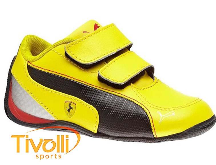 af2d679a309 Tênis Puma Ferrari Drift Cat 5 L SF V Kids   Amarelo preto 304591 05