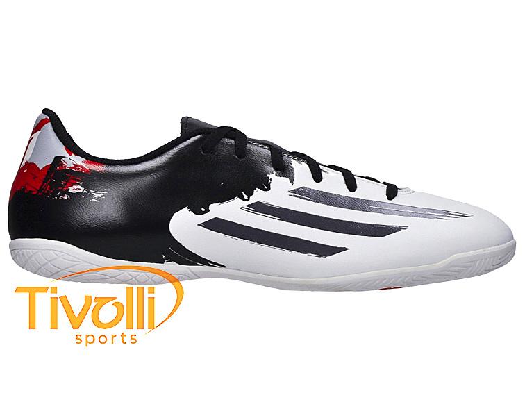 e26c00f59b Chuteira Futsal Adidas Messi 10.4 IN J   Infantil  juvenil branca e ...
