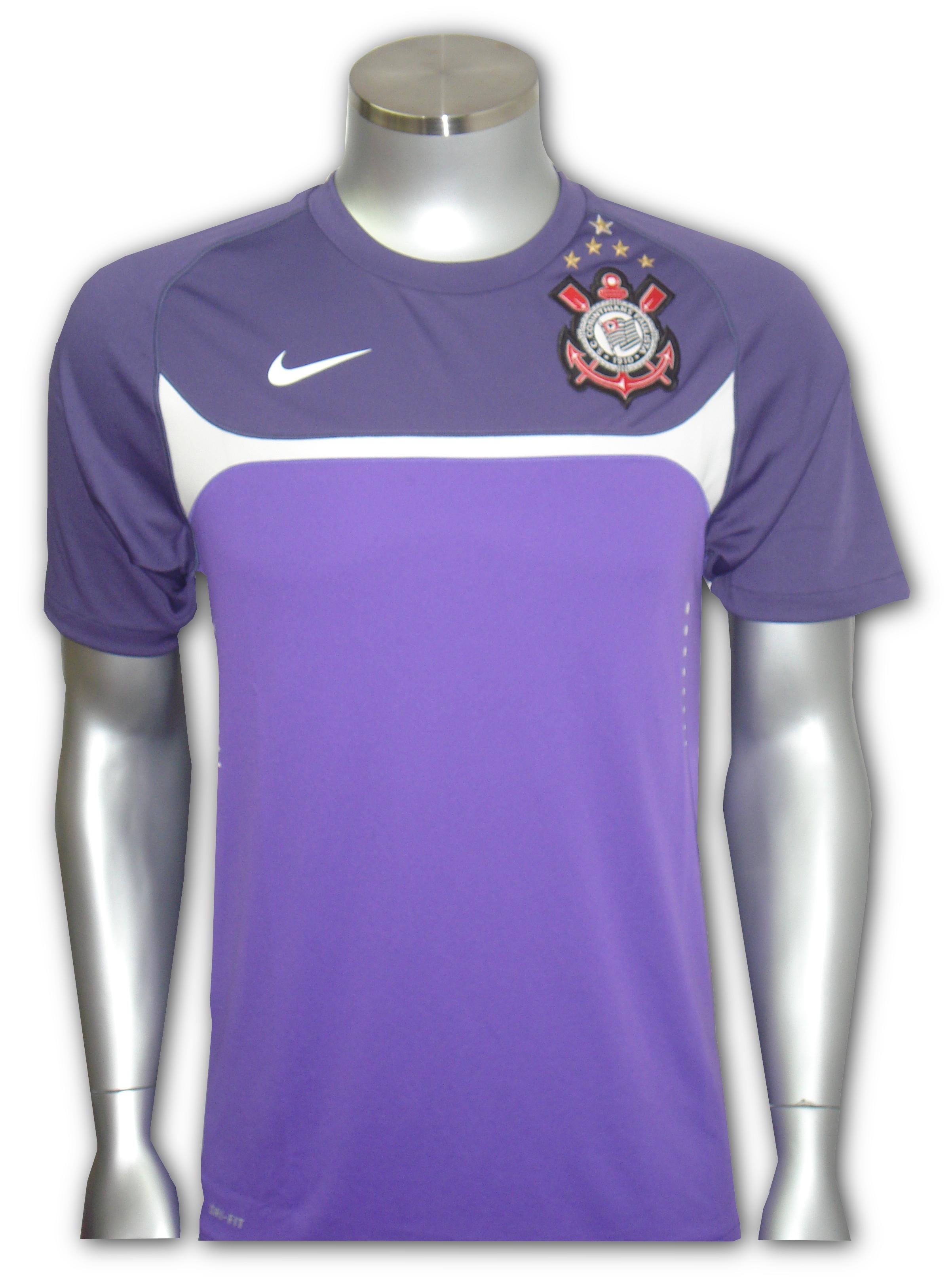 6e95d9c7506d5 Camisa Nike Treino Corinthians   Roxa Ref. 372934