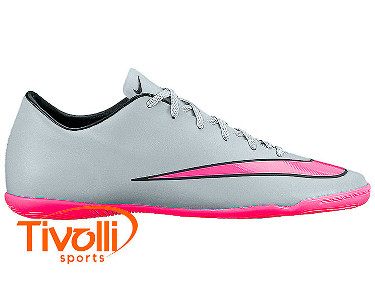... Chuteira Nike Salão Infantil Mercurial Victory V IC Prata e Rosa hot  product f6220 376b9 ... 7fdaa20ee220a