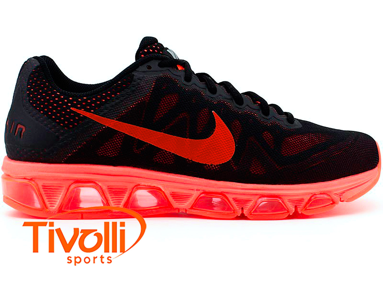 Tênis Nike Air Max Tailwind 7 Preto e Coral