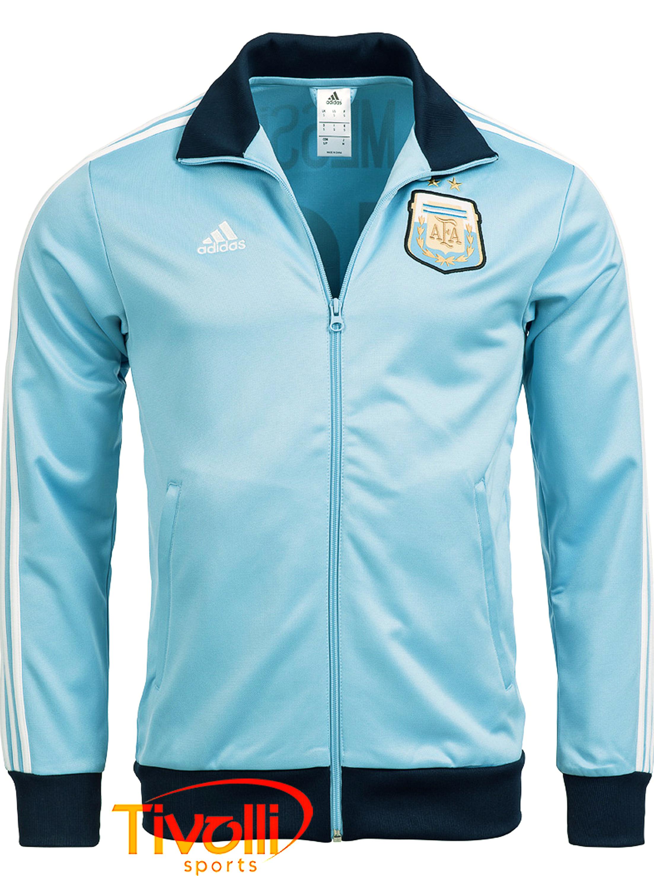 once Centro comercial Gracias  Black Friday - Jaqueta Adidas Argentina Messi > Azul celeste e marinho >