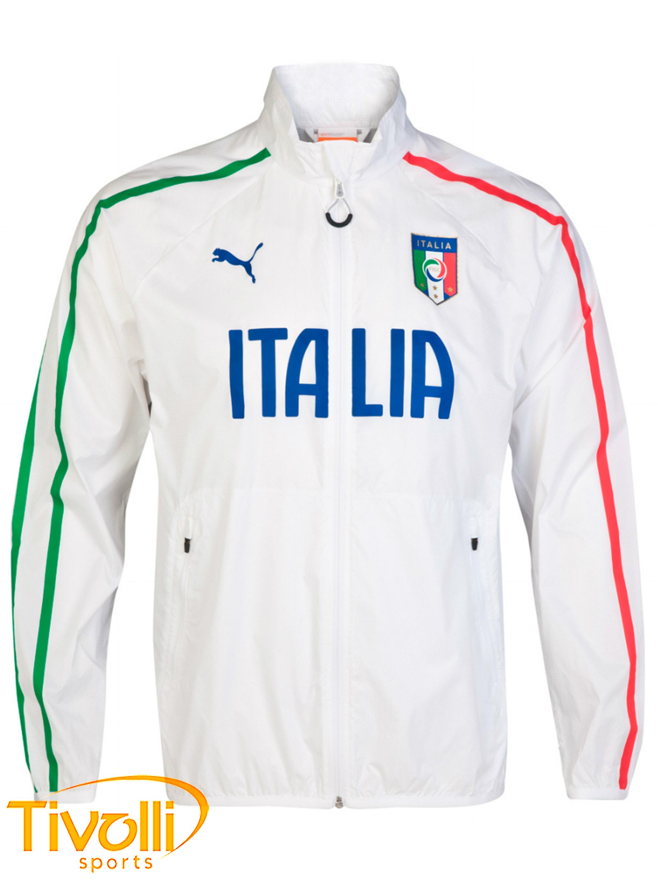 Jaqueta FIGC Italia Puma   Branca 50697faae428f