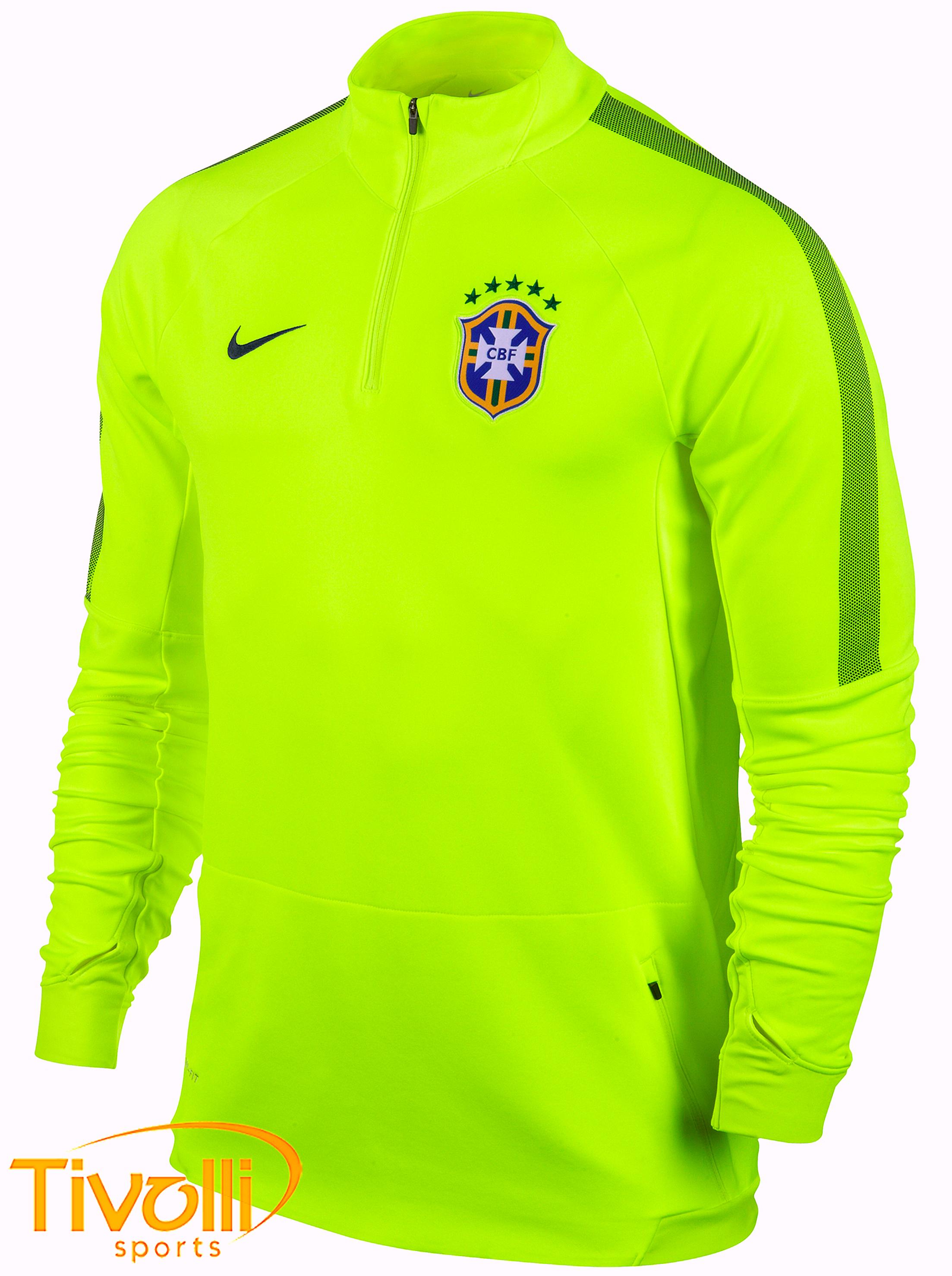 Black Friday - Jaqueta Nike CBF   Seleção Brasileira verde fluor   d426bd33d661e