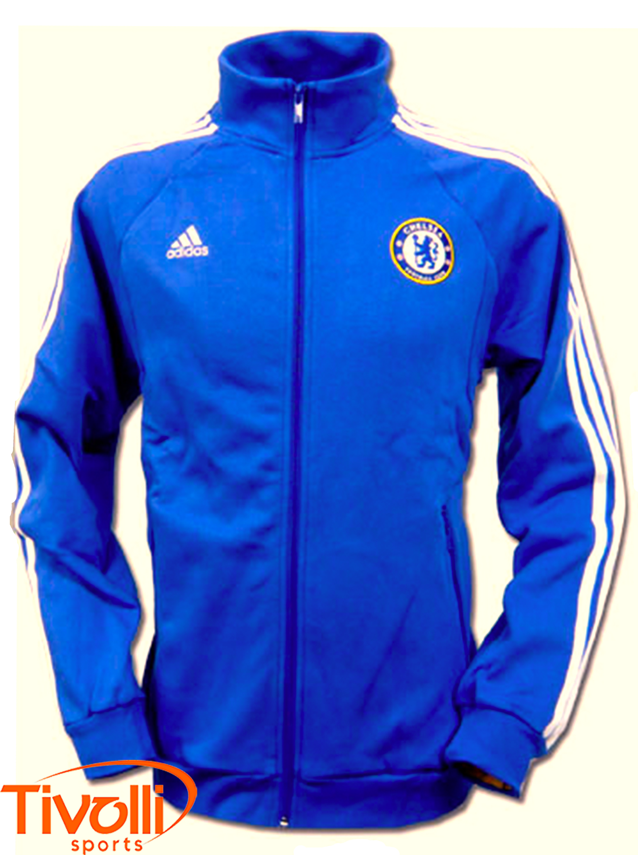 7d9b0f9549 Jaqueta Chelsea Adidas   - Mega Saldão