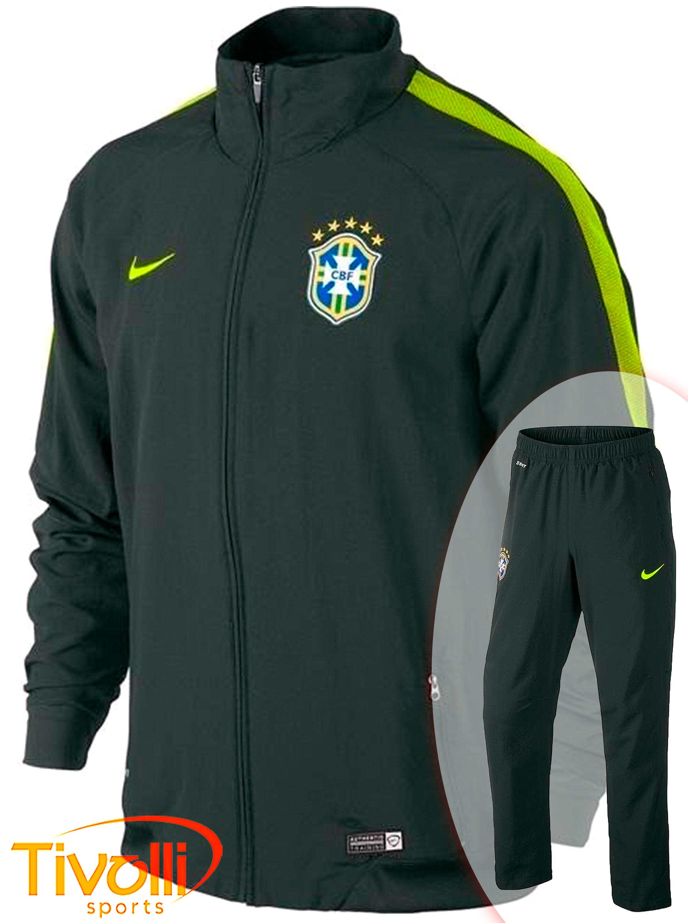 4c66a5396894b Agasalho Nike CBF Brasil   Seleção Brasileira verde musgo