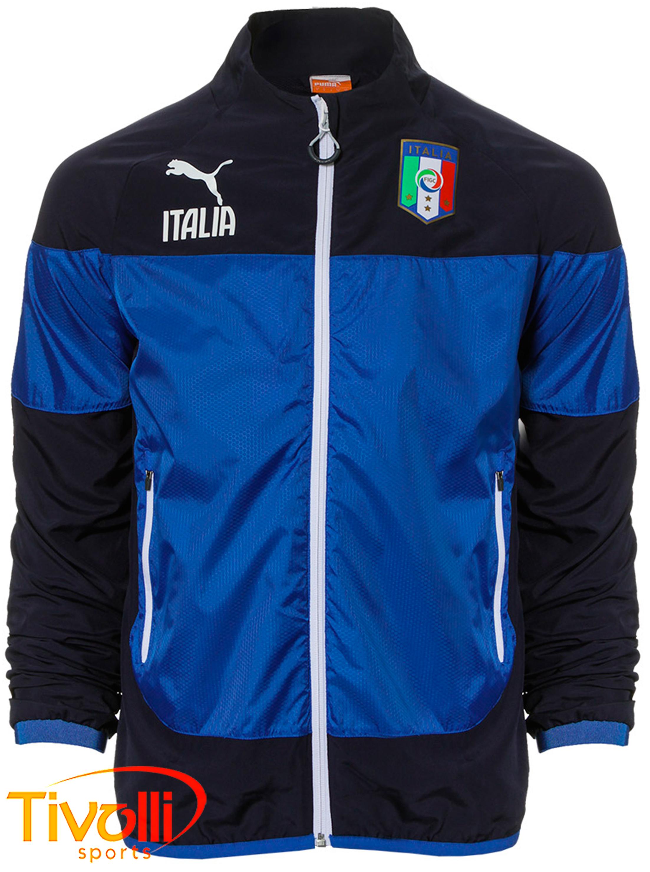 Jaqueta Puma Italia FIGC   Azul marinho e royal   a0854ce0e9776