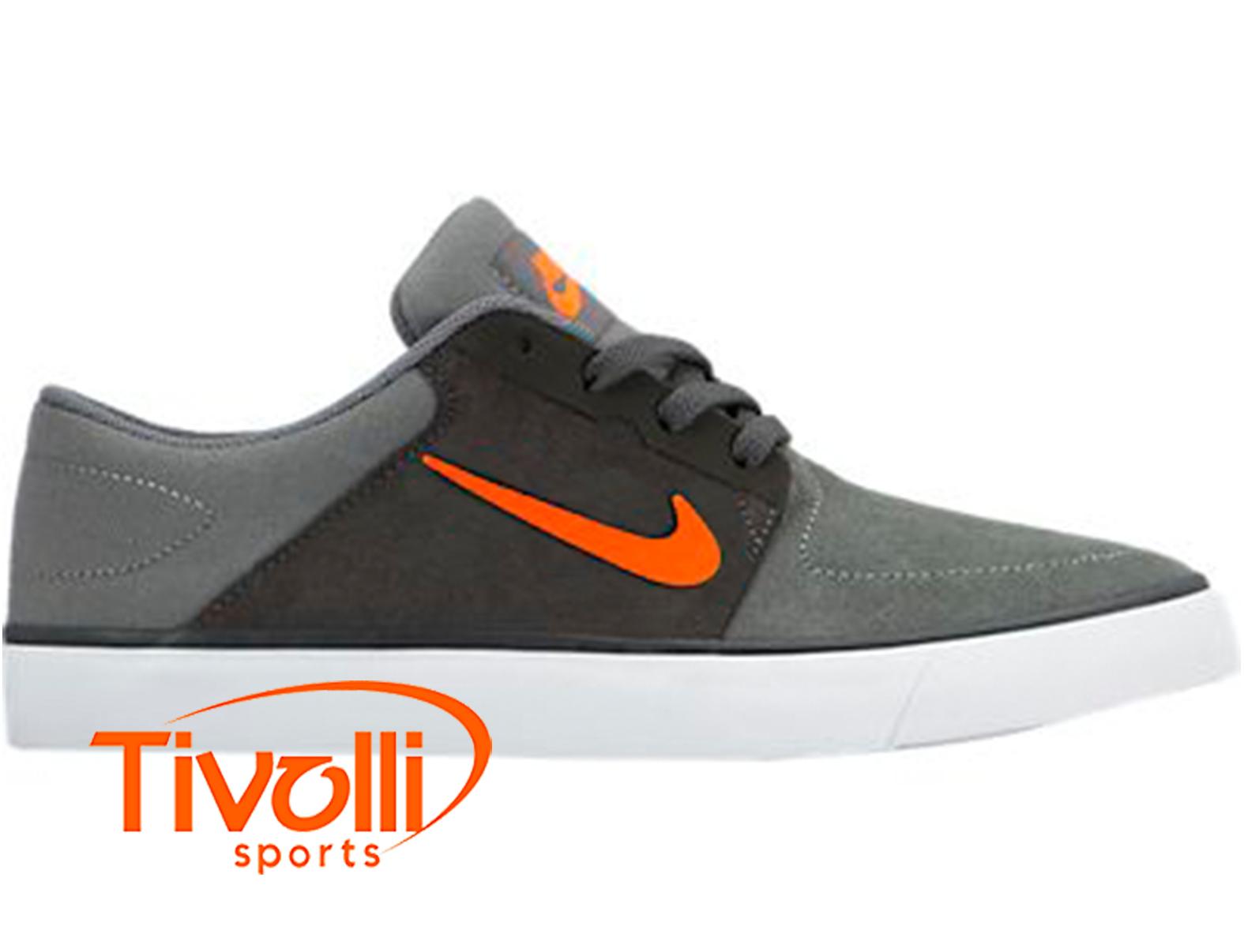Exclusión negro equivocado  Tênis Nike SB Portmore (GS) > Juvenil cinza, laranja e branco >