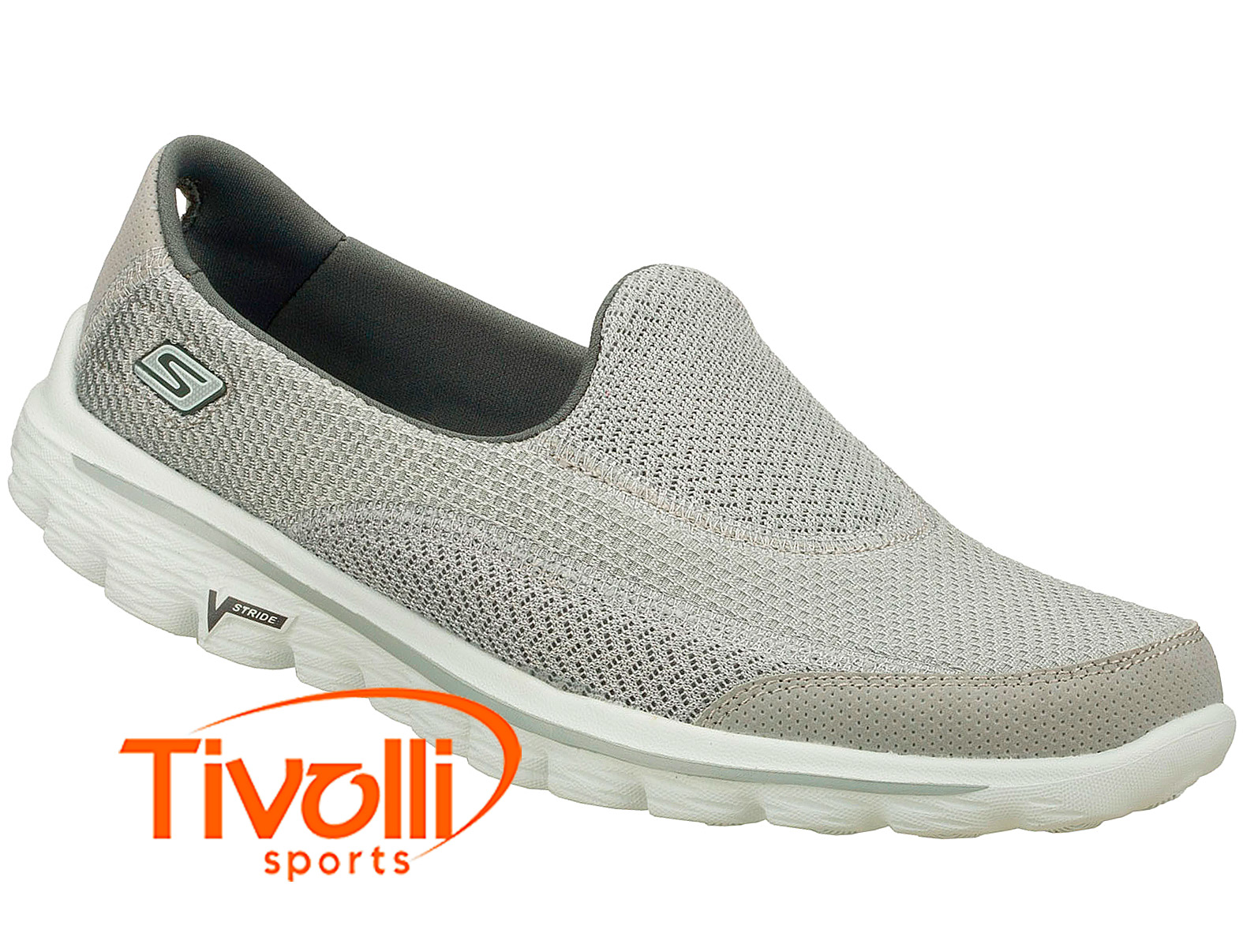 30e86e216f Tênis sapatilha Skechers   Feminino Go Walk 2 Grey