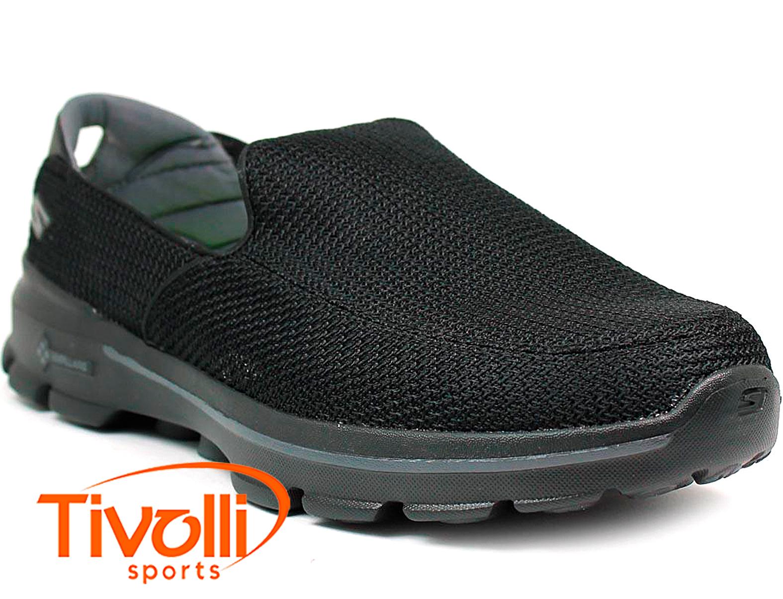 5ffb948f9 Tênis sapatilha Skechers   Go Walk 3 Mesh Slip-on Preto