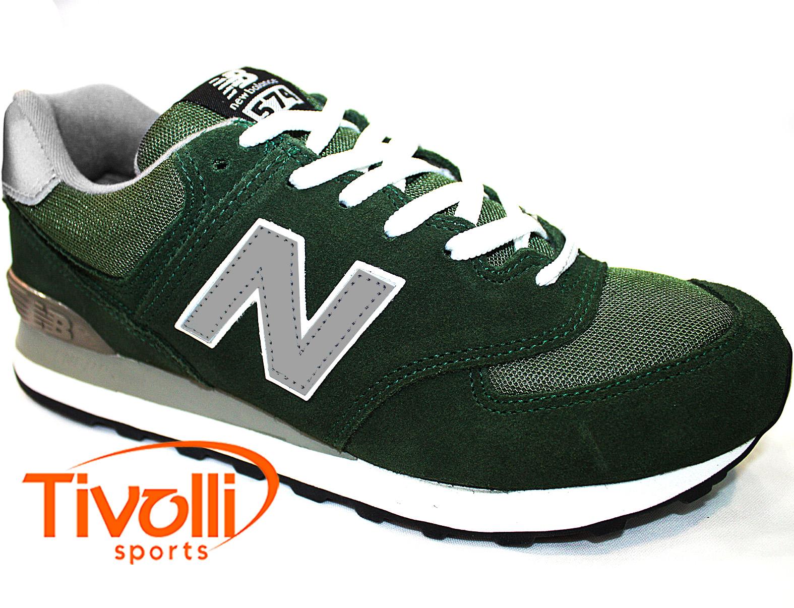 tenis new balance cinza e verde