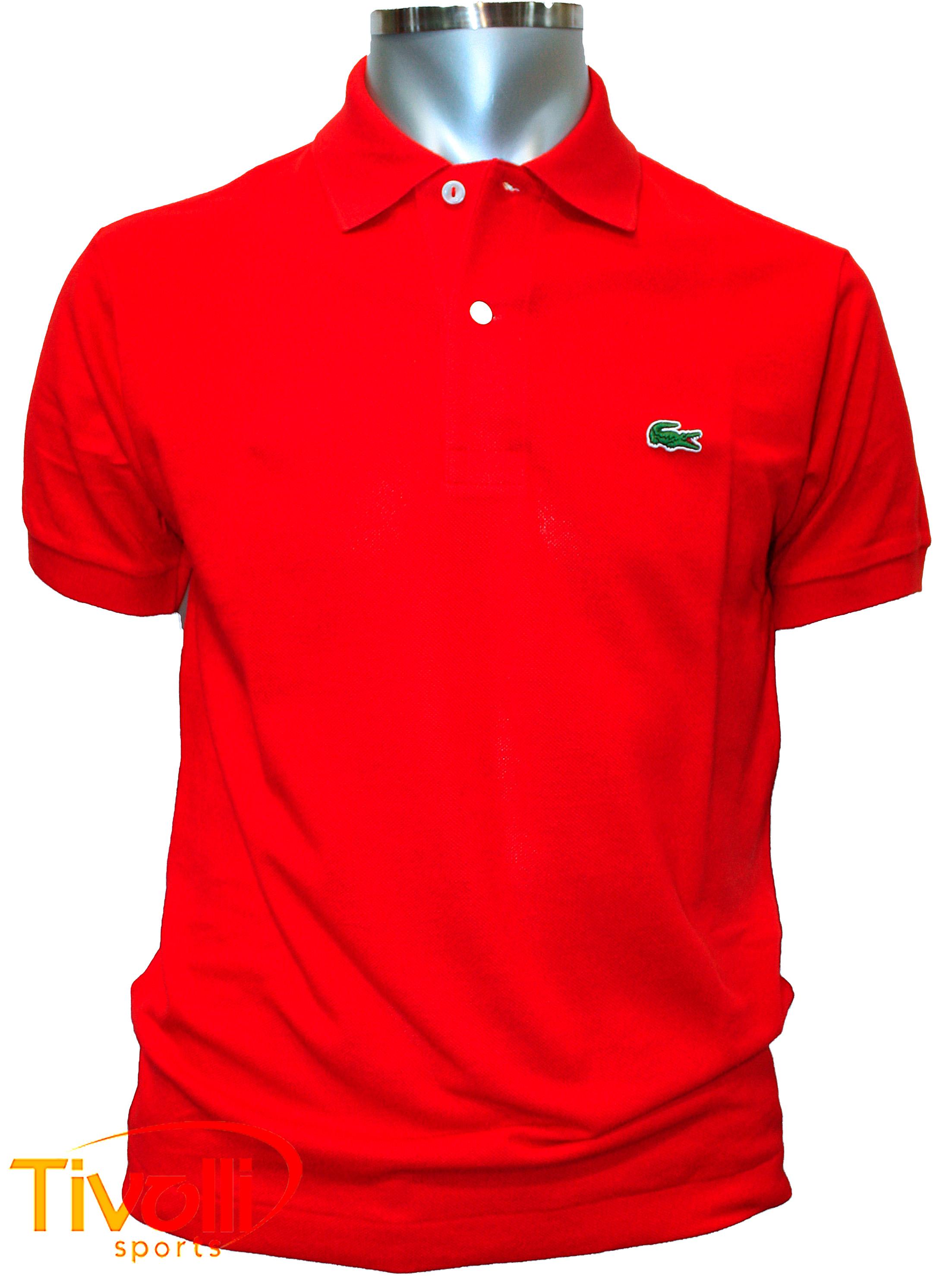 Camisa Polo Lacoste   Básica vermelha   ca4517896b