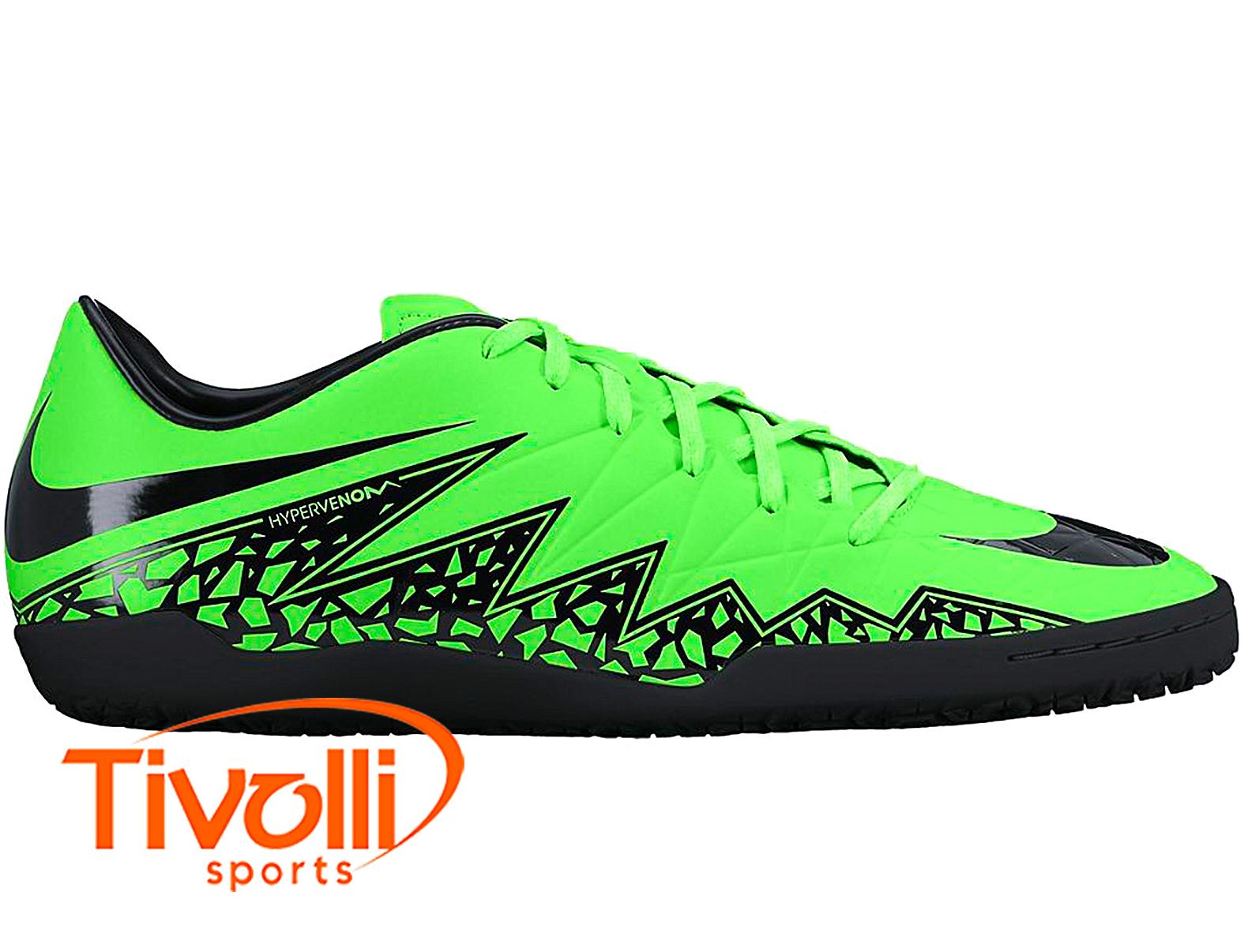 b0b5936602 Black Friday - Chuteira infantil futsal Nike Hypervenom Phelon II IC Verde  e preta
