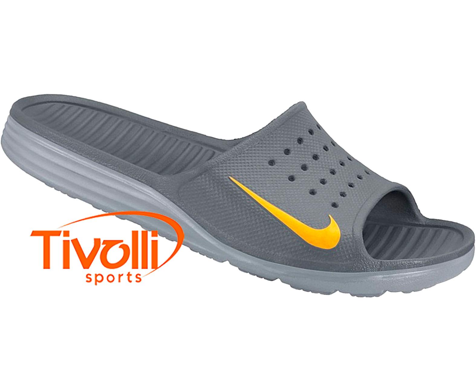 aed622f5c6 Chinelo Nike Solarsoft Slide   Cinza e amarelo