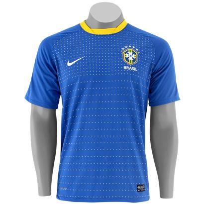 Camisa do Brasil copa 2010 uniforme 2 (Réplica oficial) Azul s nº s nome 77ef99a4150