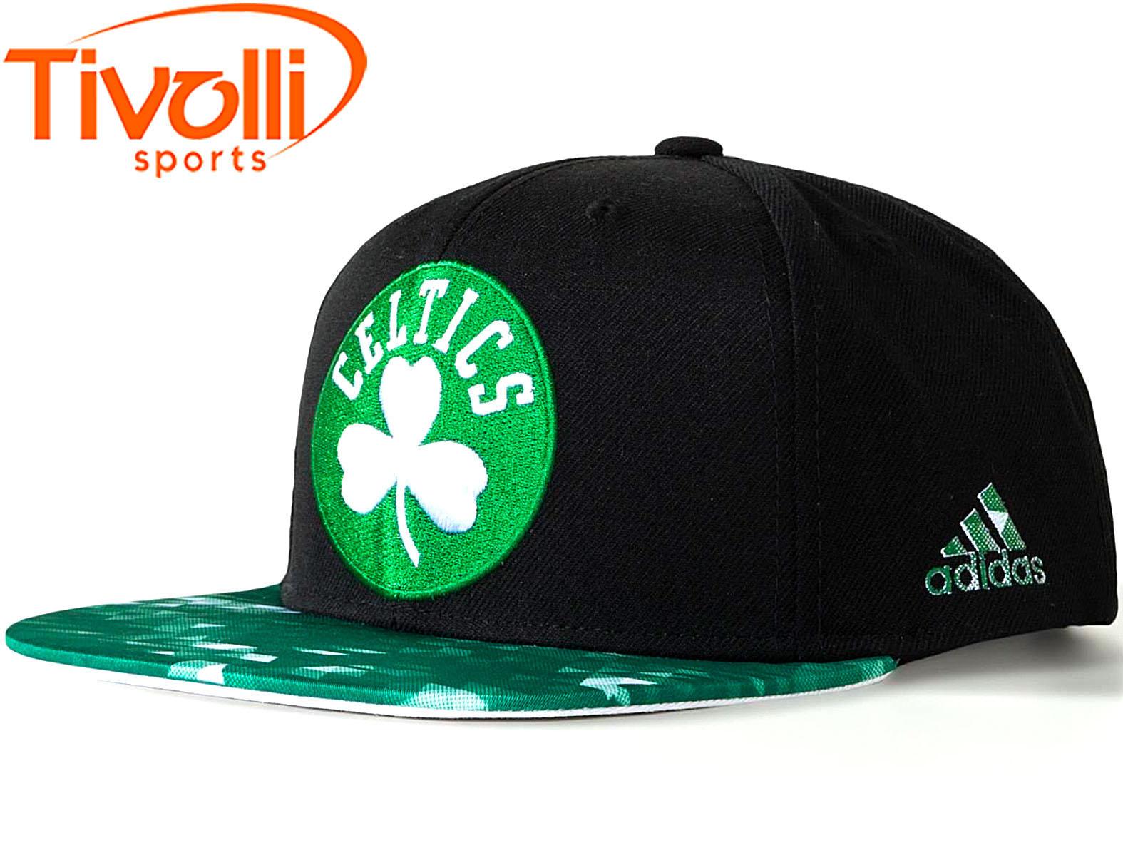 a031b8e348f73 Boné NBA Boston Celtics Adidas   Basquete preto e verde