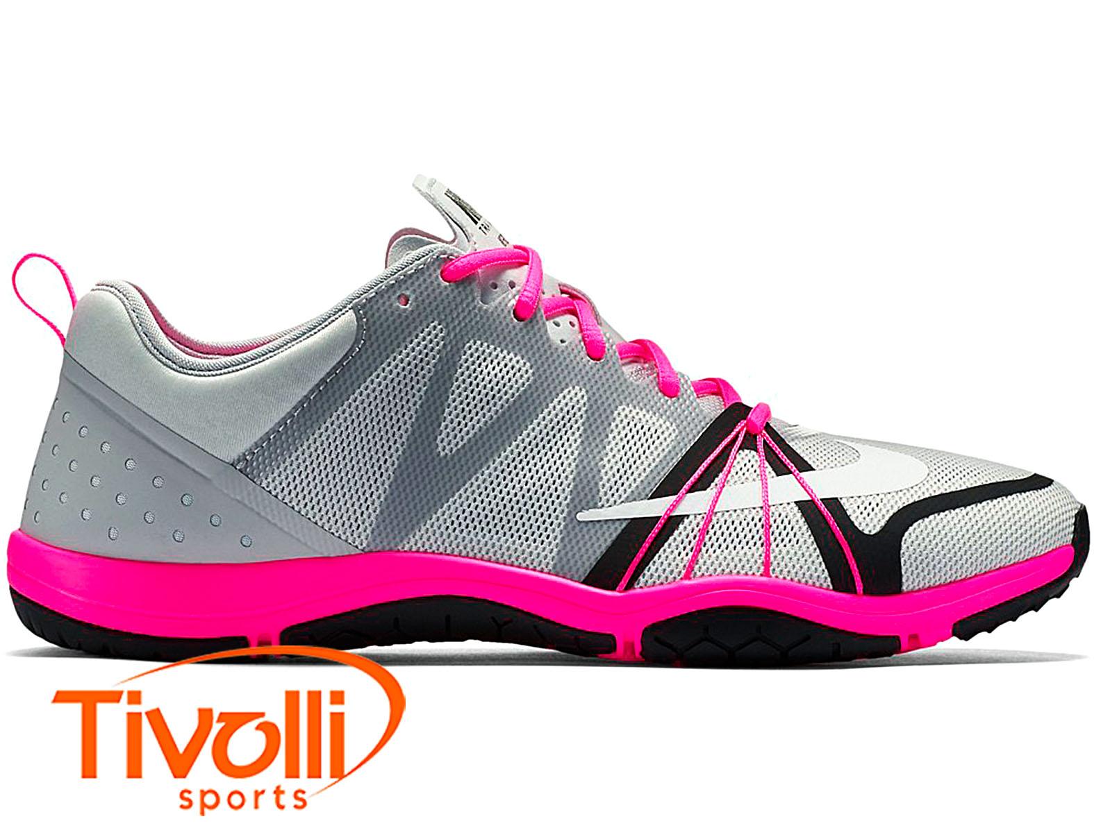 Tênis Nike Free Cross Compete Feminino Cinza Rosa E Preto