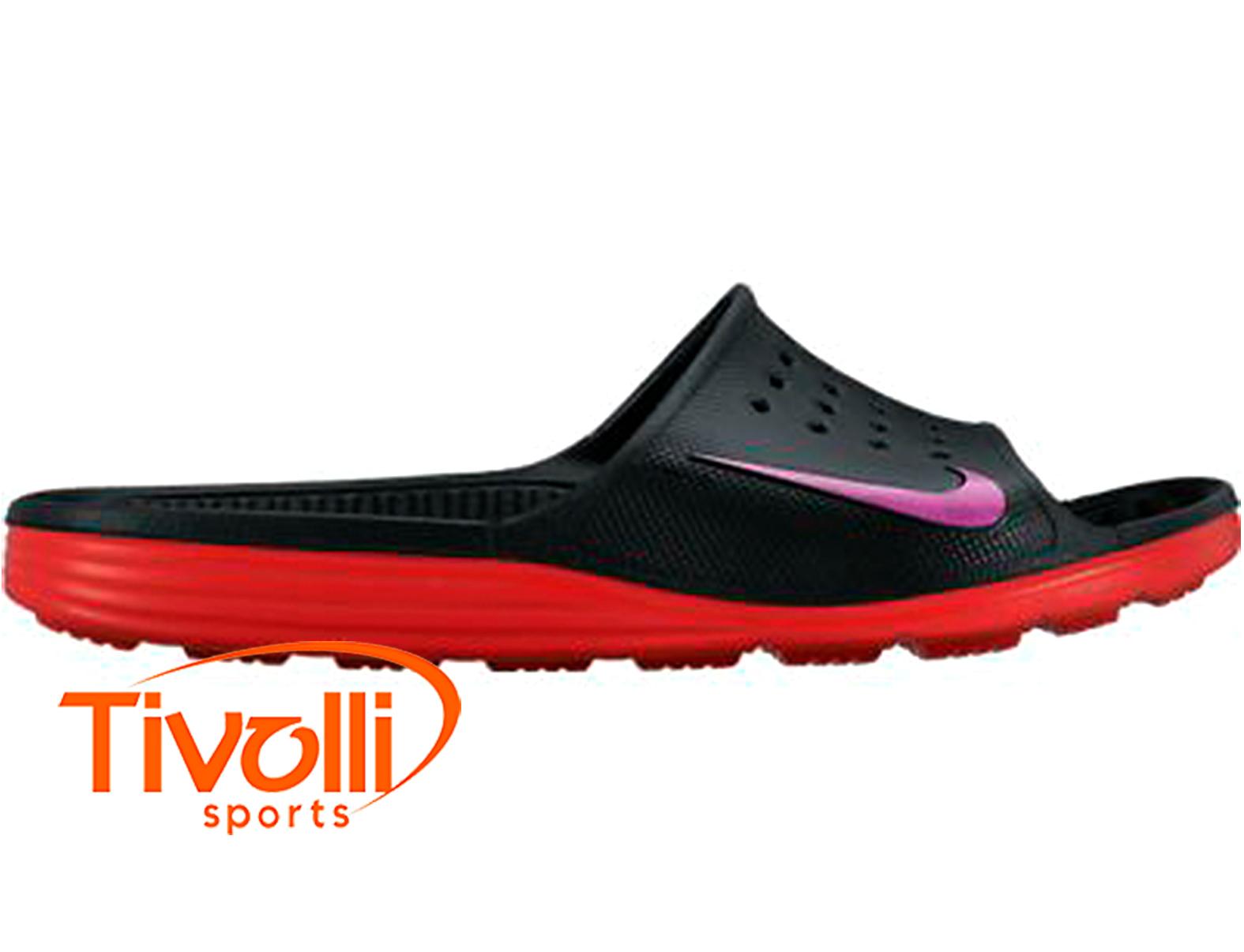 cd31b251ff Chinelo Nike Solarsoft Slide > masculino preto, vermelho e roxo >