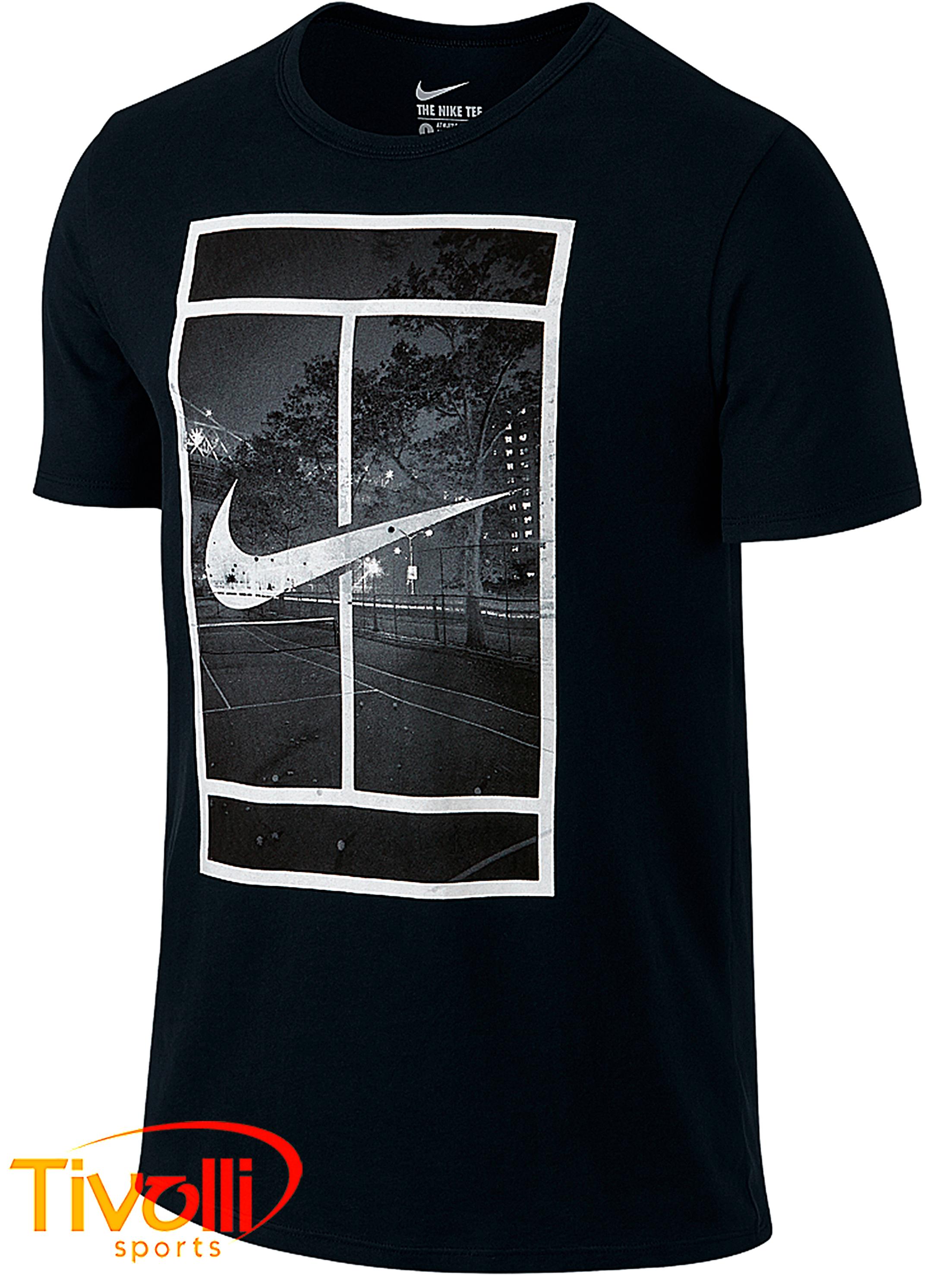 harto prometedor Mula  Camiseta Nike Court > preta estampada >