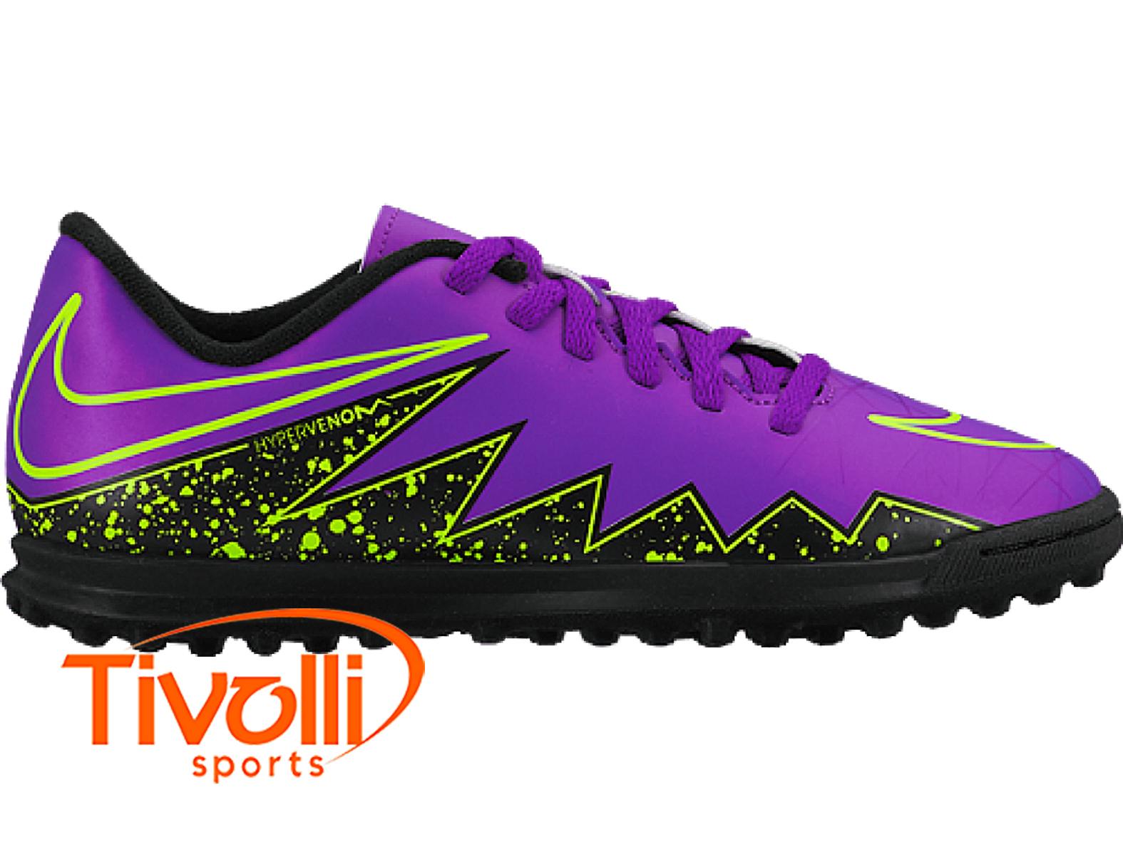 bf2aeb72449ad Chuteira Nike JR Hypervenom Phade II TF Society Infantil > >