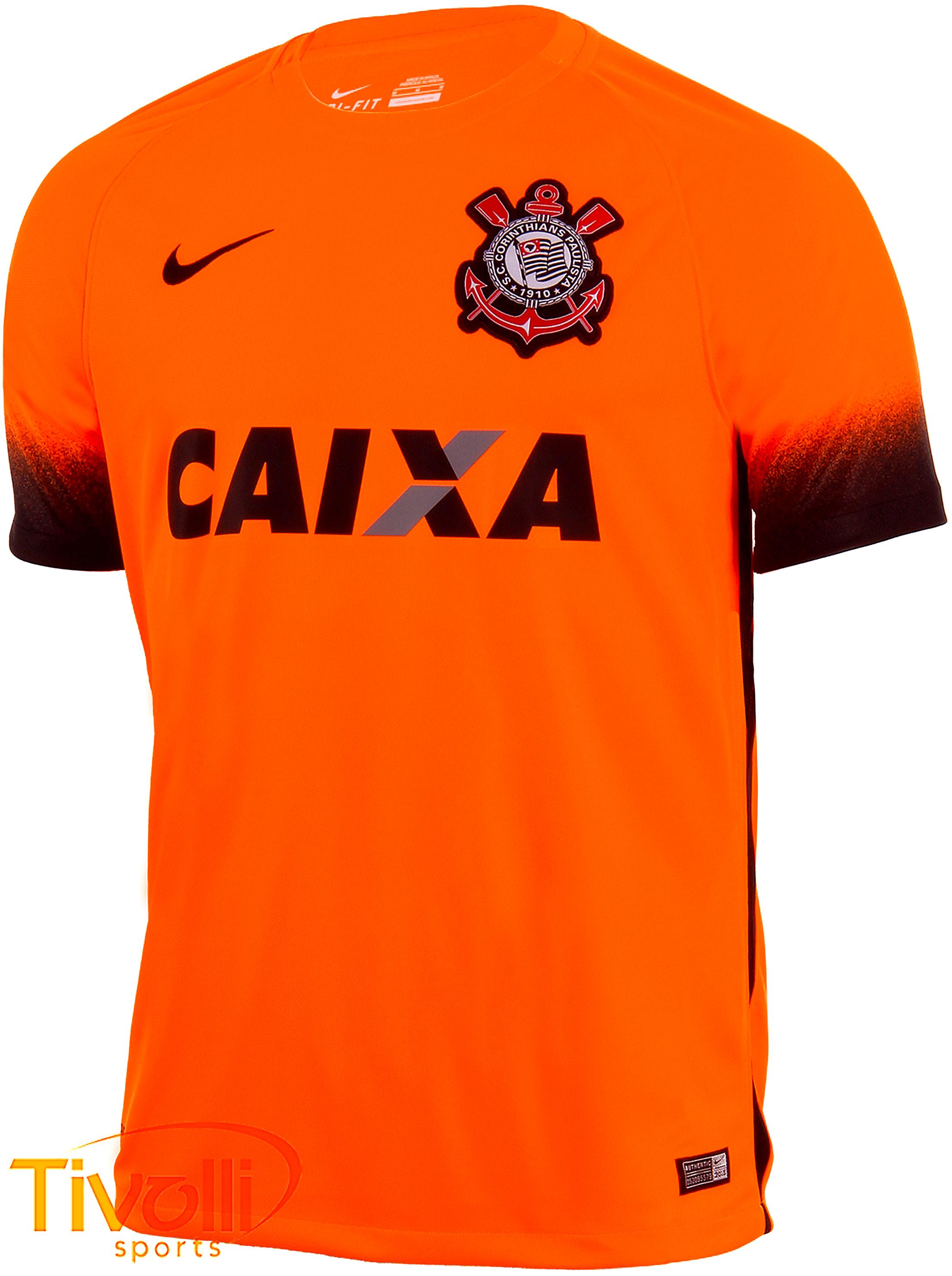 3dcbdf23b41c3 Black Friday - Camisa Corinthians III Nike torcedor 2015 2016 masculina  laranja e preta