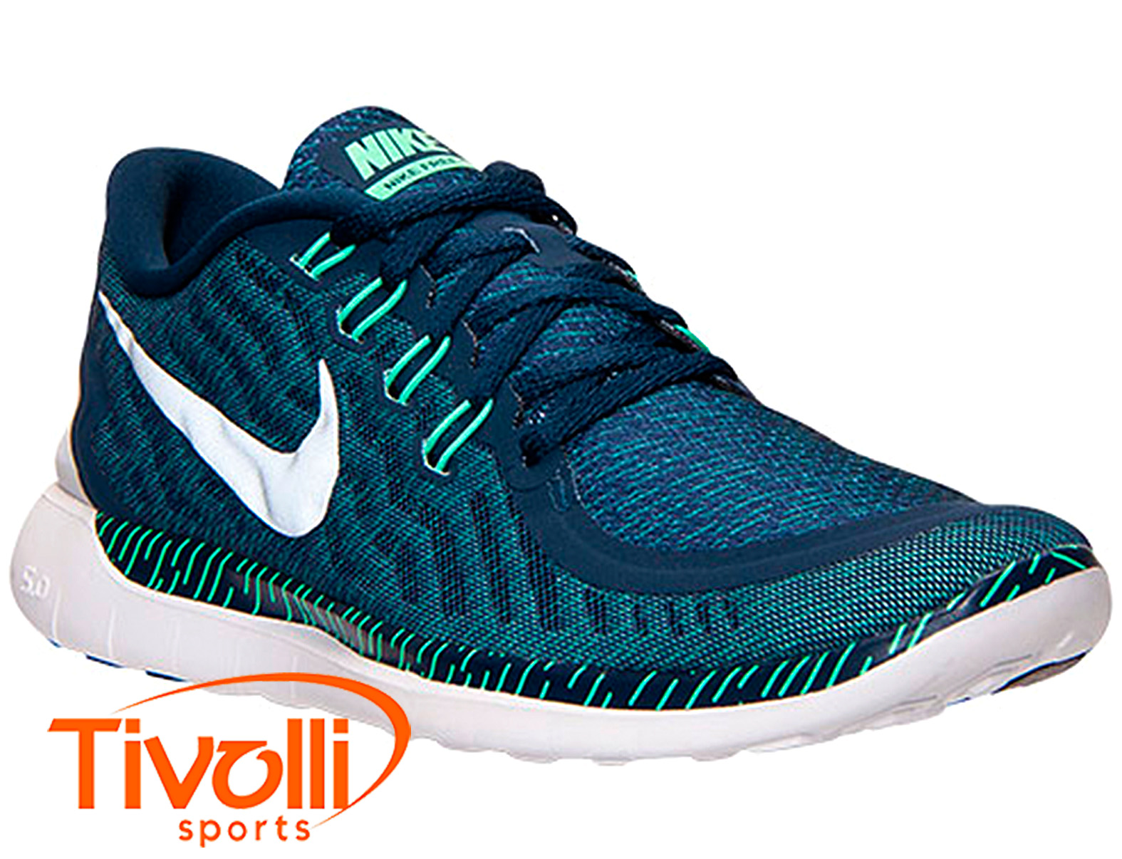 ca2dd6b9986 Tênis Nike Free 5.0 Print masculino   marinho