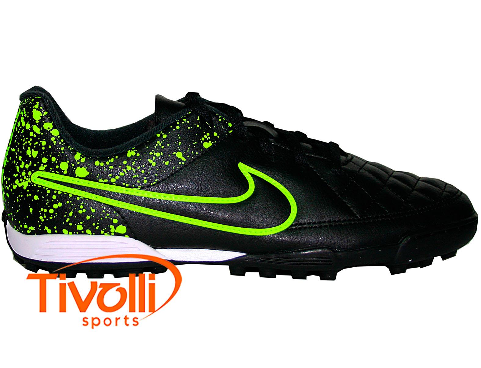 Chuteira society Nike Tiempo Rio II TF   preta 44206da5a18ef