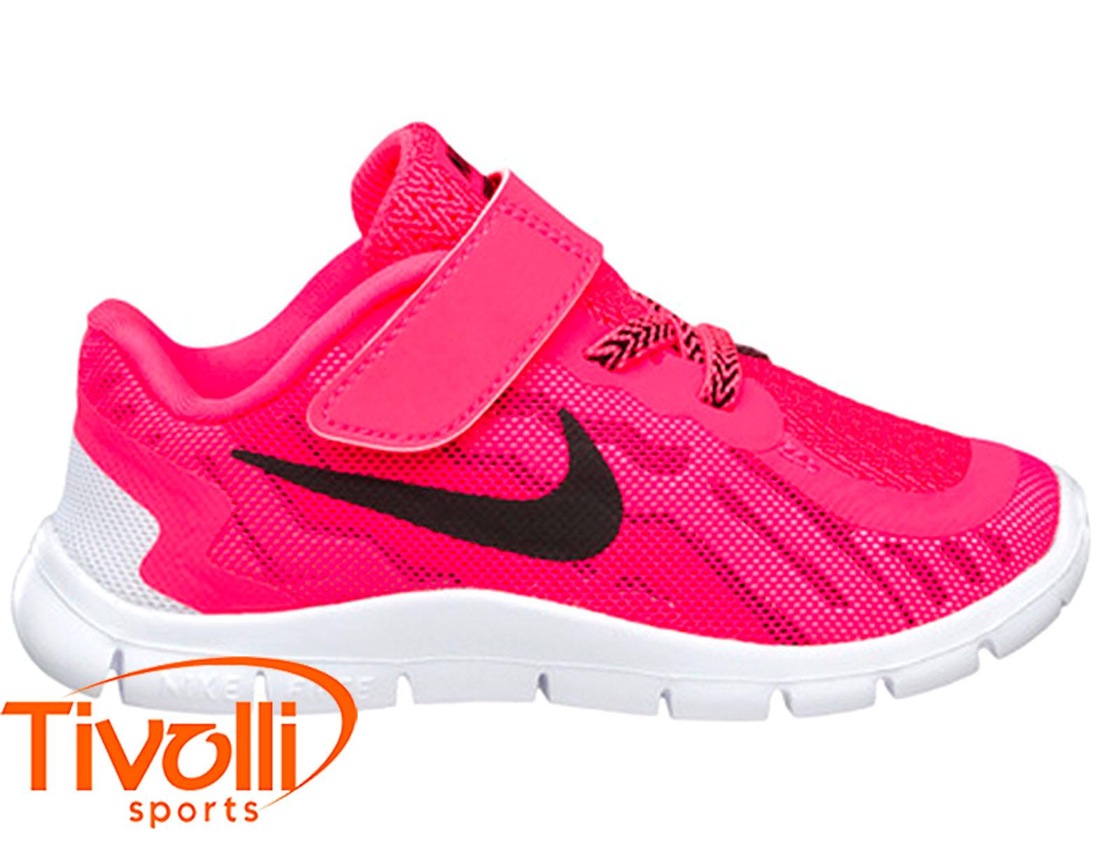 new style c6d24 ba75d Tênis Nike Free 5 (TDV) infantil rosa pink e branco