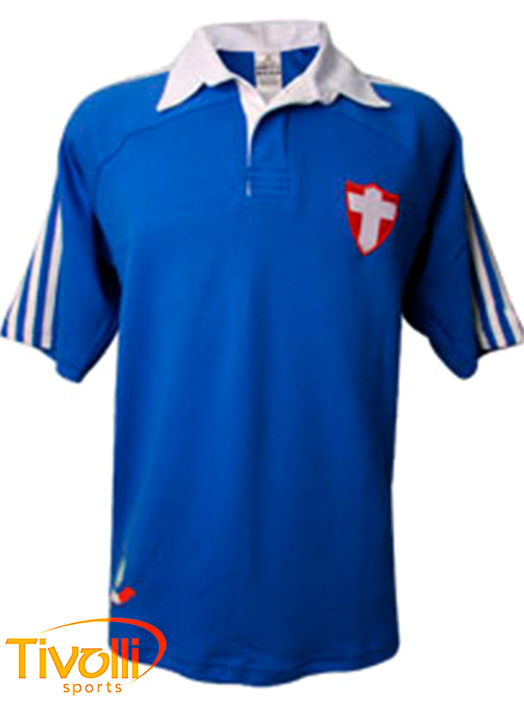 756c86f85e Camisa Palestra Italia Adidas Azzurra Palmeiras cruz de Savóia masculina  azul