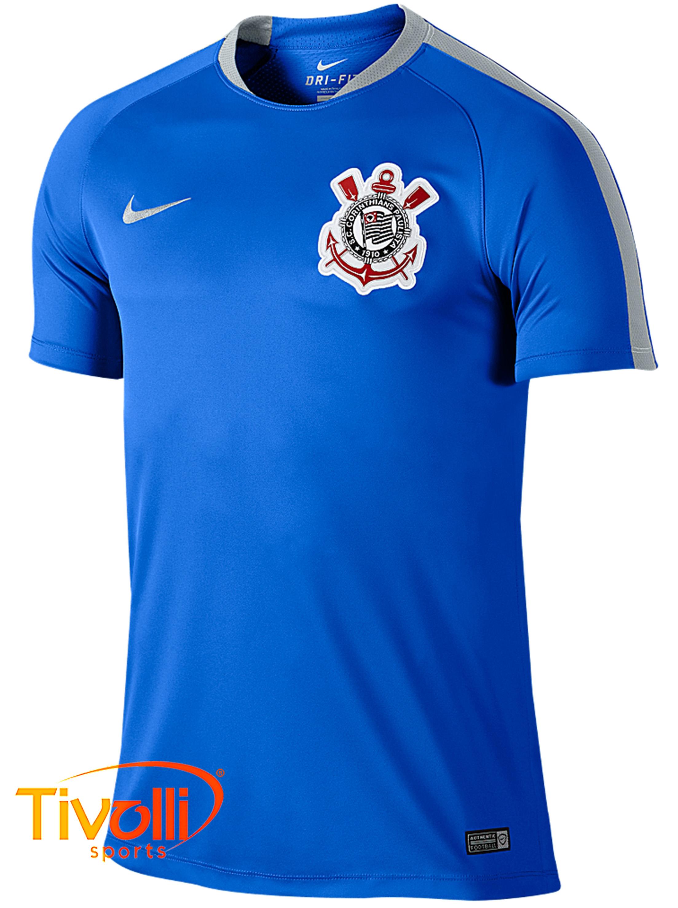 Camisa Corinthians SCCP Flash Nike   azul e cinza   9abff9a80c649
