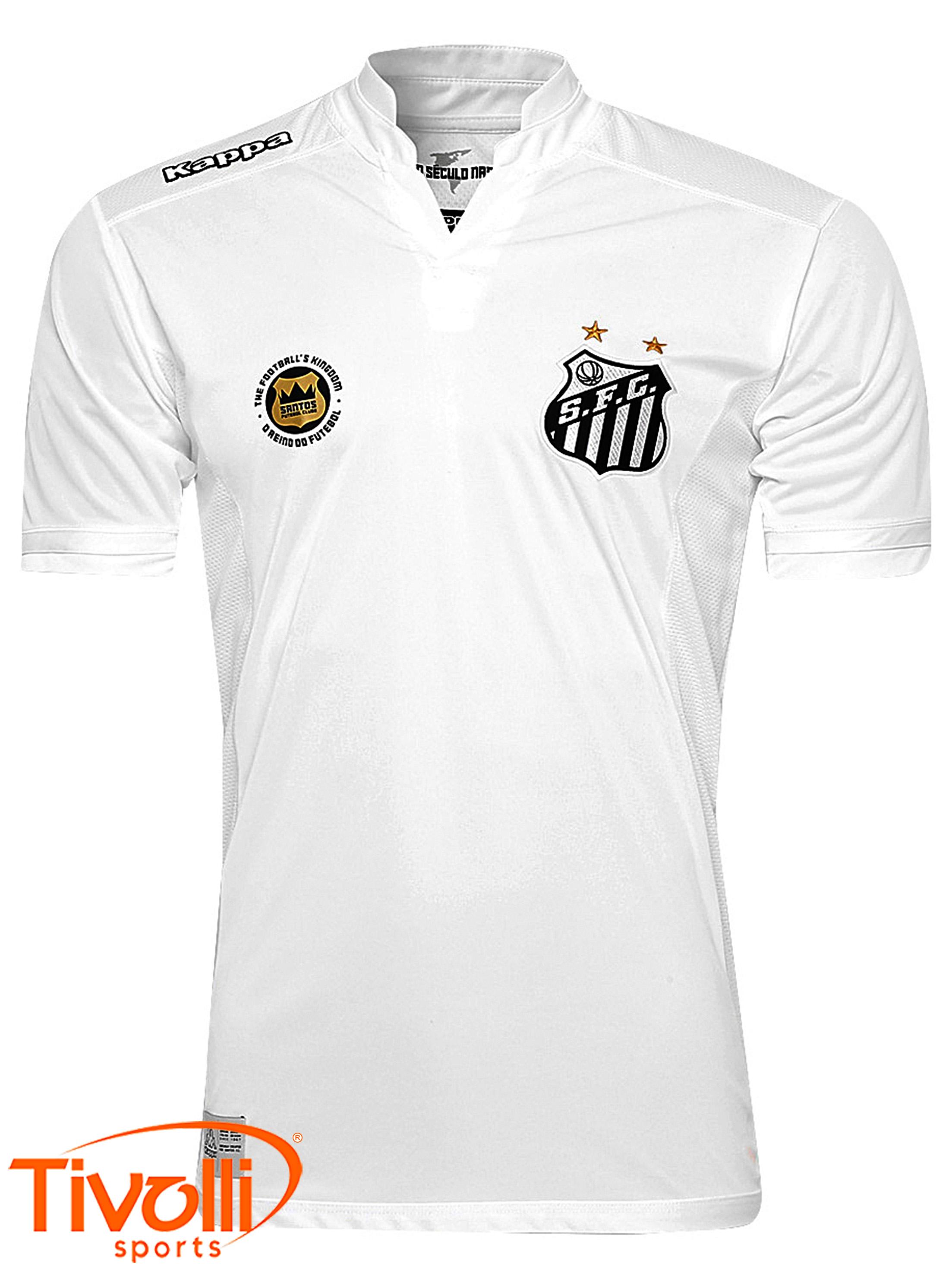 Camisa Santos I 2016 Kappa   Branca - Mega Saldão   9bbb1105aa780