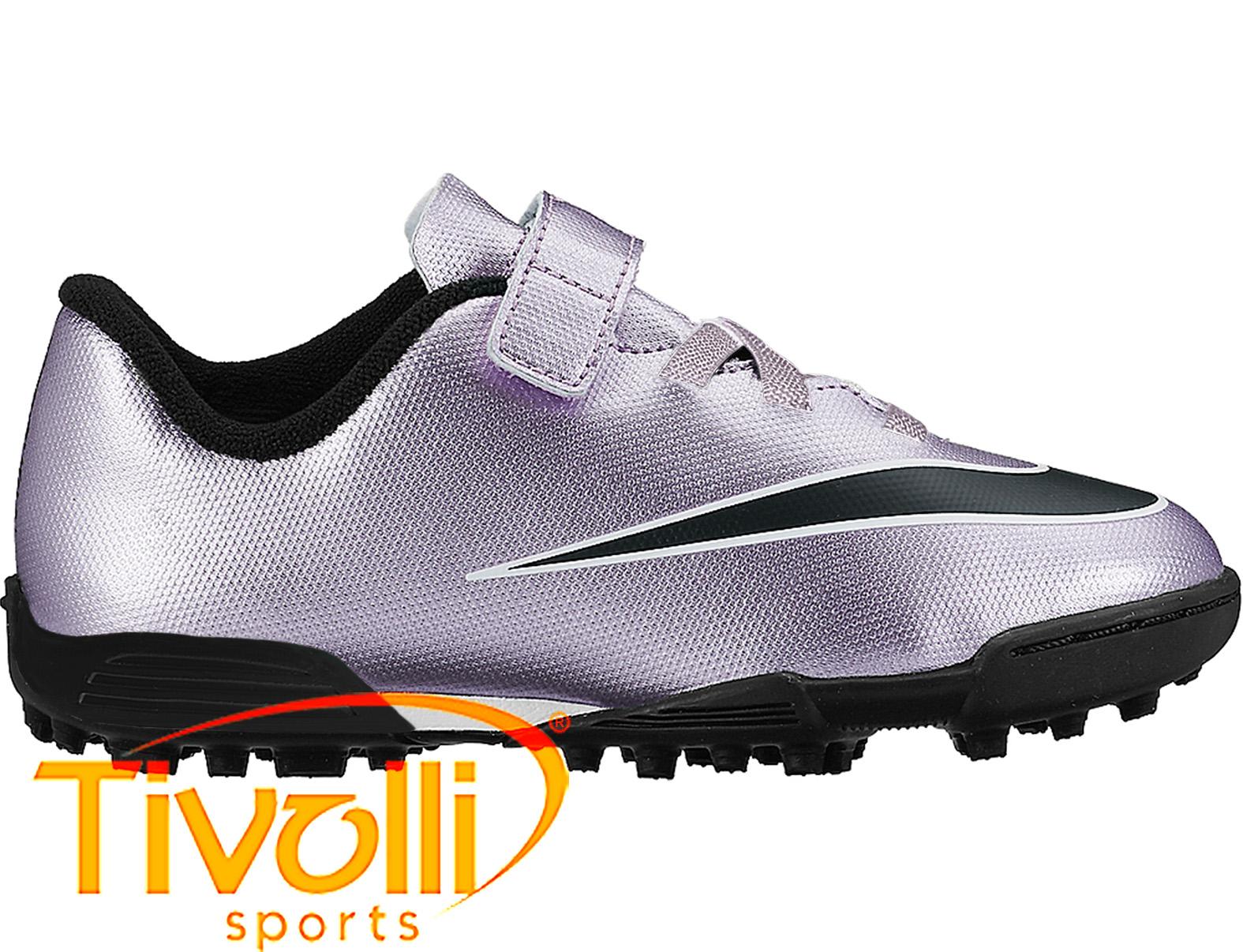Chuteira Nike Mercurial Vortex II TF Society Infantil     2847eb4c4de24