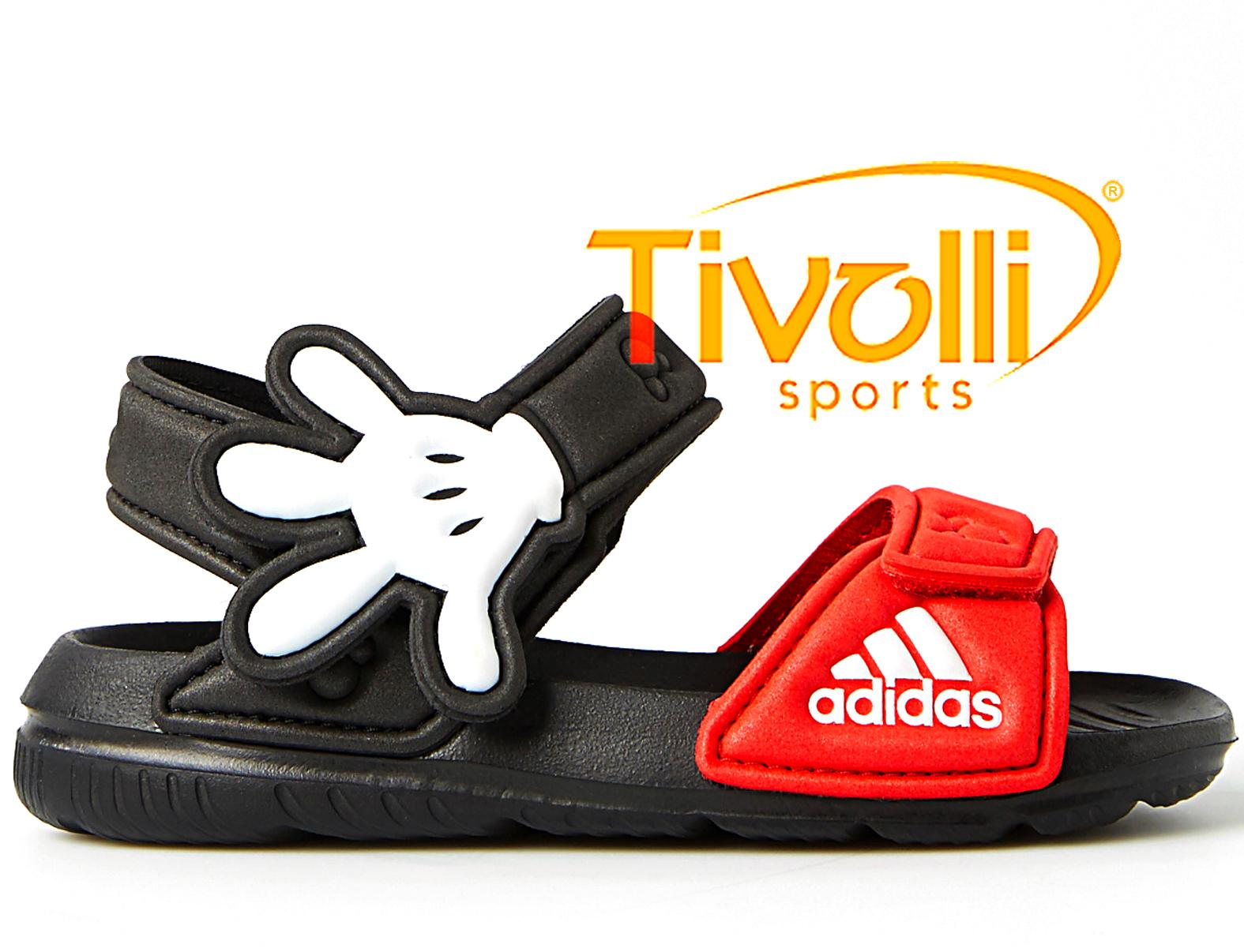 391bcbb65aa Sandália papete Adidas Mickey Disney AKwah   preta e vermelha
