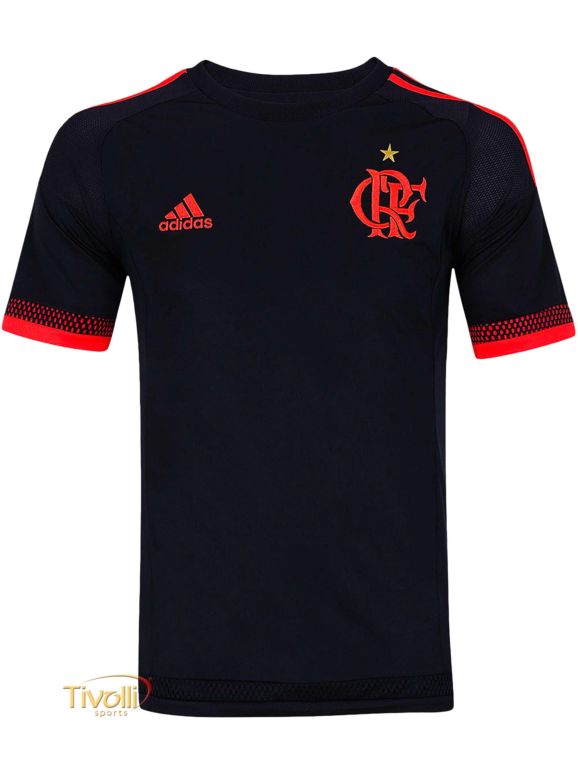 Camisa Flamengo III Adidas 2016   preta e vermelha   29da9e488ac50