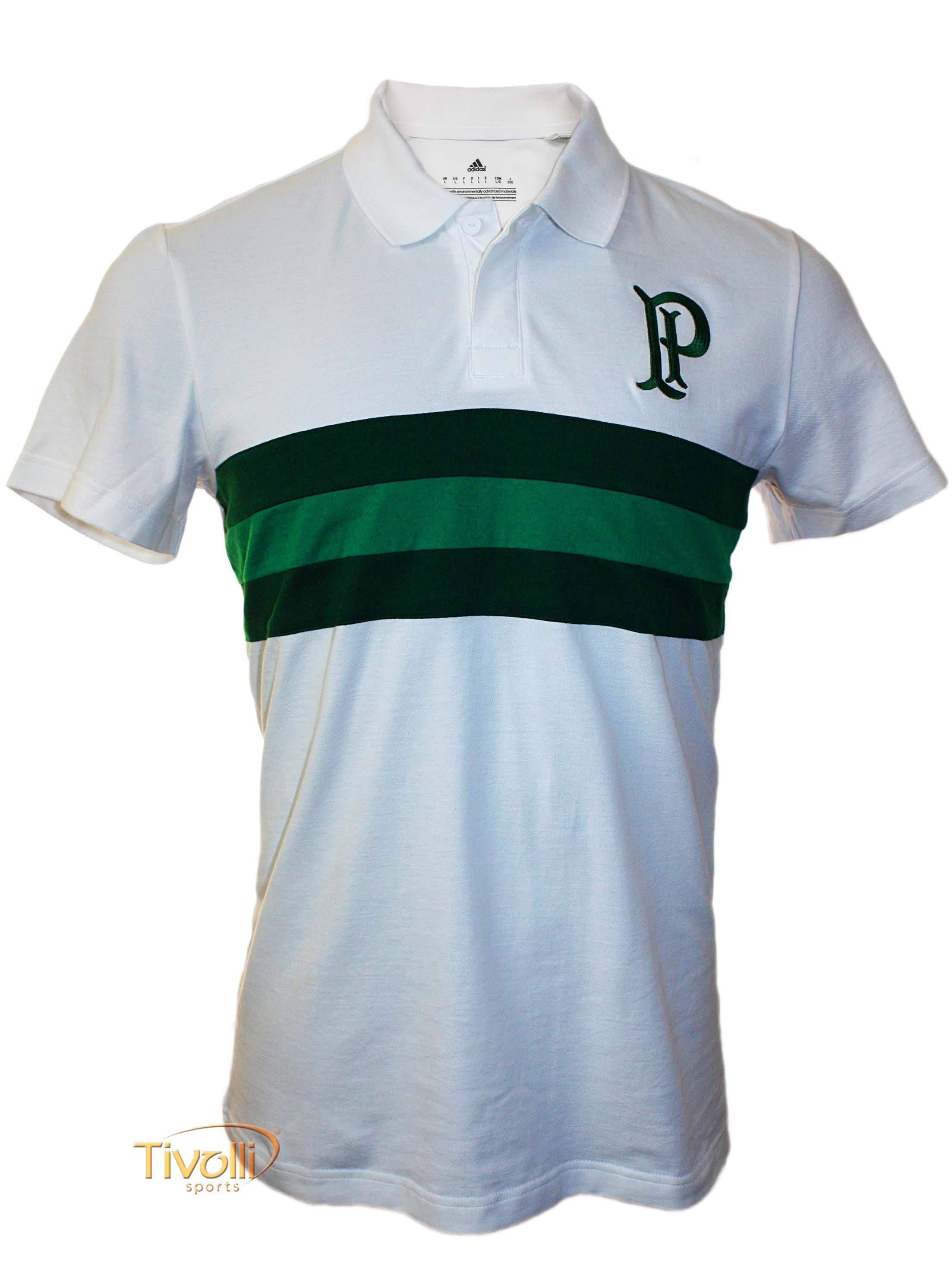 d518ca86d7 Camisa Polo Retrô Palmeiras Adidas   Premium branca e verde
