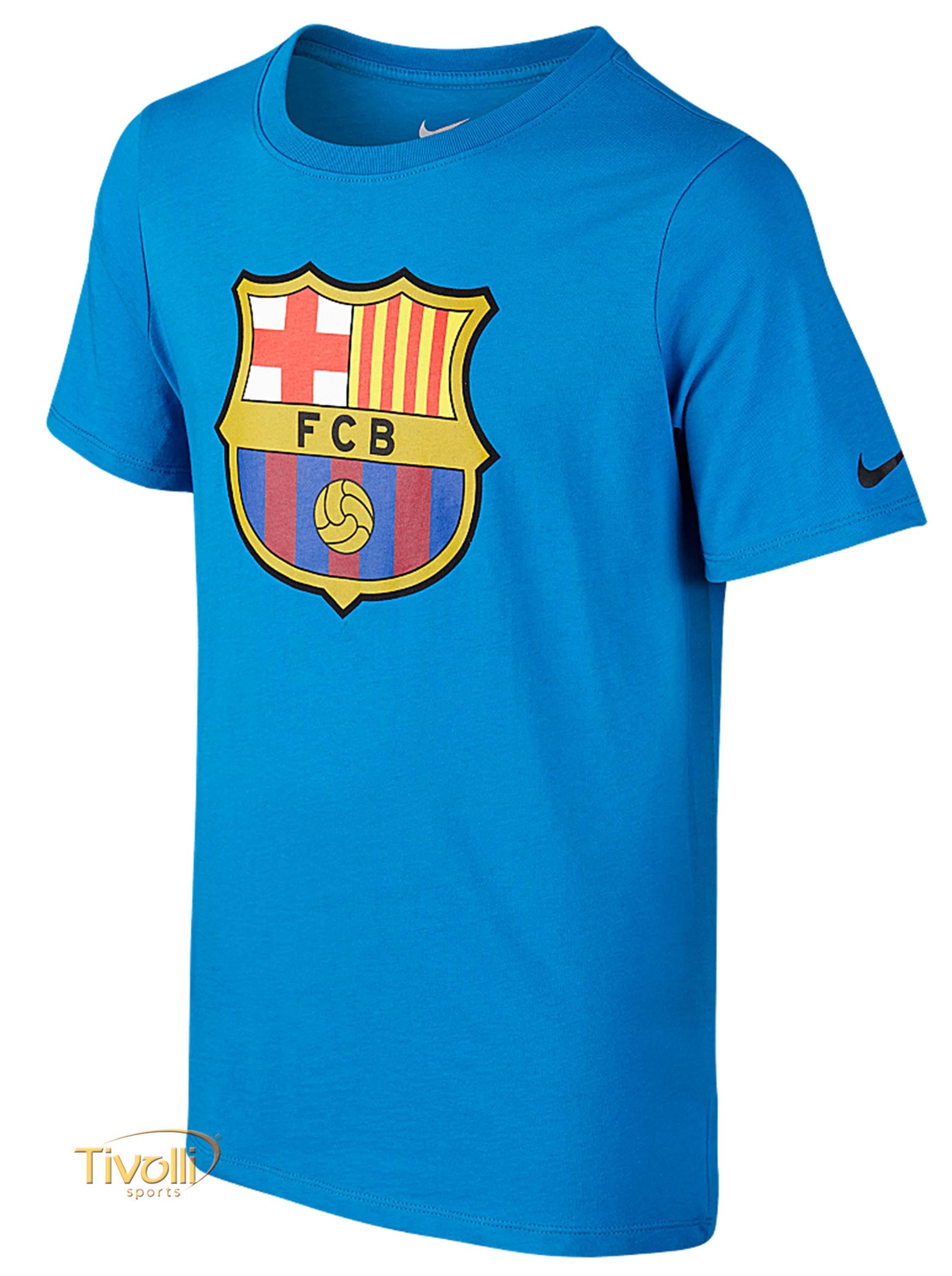 Camiseta Barcelona Core Crest Infantil Nike     25cc43035faa2